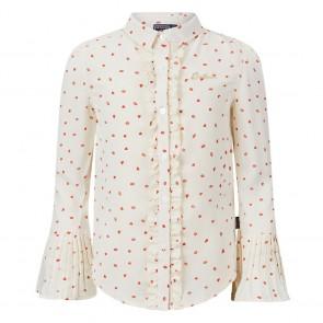 Retour jeans kids girls blouse Evelien met hartjes en kusjes in de kleur off-white