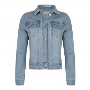 Indian blue jeans girls denim jacket spijkerjasje in de kleur light denim