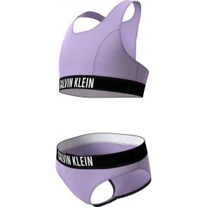Calvin Klein girls Bralette bikini set in de kleur lila