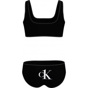 Calvin Klein girls Bralette bikini set in de kleur zwart