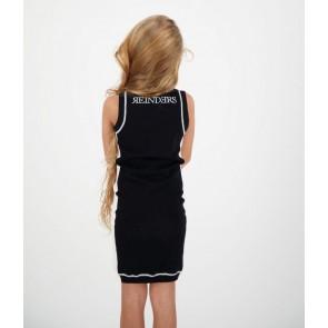 Reinders kids girls fijngebreide jurk Harley dress in de kleur zwart/wit