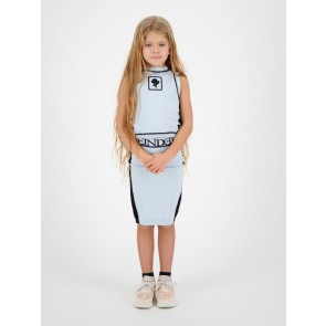 Reinders kids girls fijngebreide Harley top in de kleur baby blue