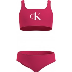 Calvin Klein girls Bralette bikini set in de kleur cerise roze