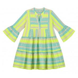 Devotion Girls jurk in de kleur blauw/geel