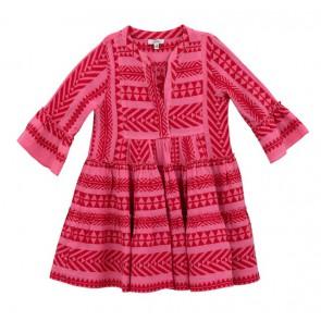 Devotion Girls jurk in de kleur rood/roze