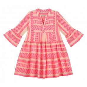 Devotion Girls jurk in de kleur fluor roze