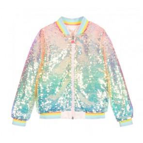 Billieblush jasje met pailletten in de kleur lichtblauw