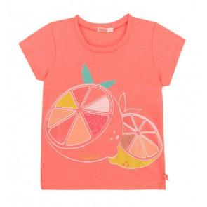 Billieblush t-shirt met citroen in de kleur koraal roze