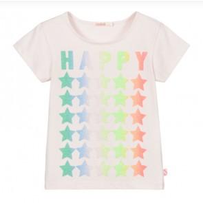 Billieblush t-shirt Happy met sterren in de kleur zachtroze