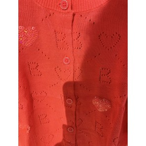 Billieblush broderie vestje in de kleur koraal roze