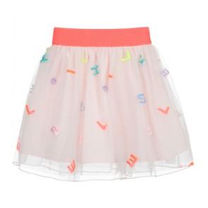 Billieblush tule rok met letter print in de kleur off white