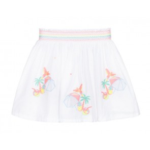 Billieblush rok met borduursels in de kleur wit