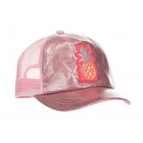 Billieblush pet cap met glitters en ananas in de kleur roze
