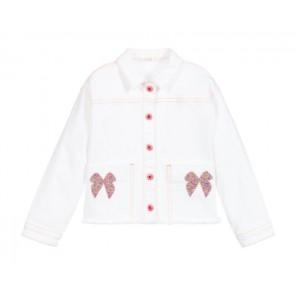 Billieblush jasje met glitter strik in de kleur off white