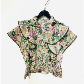 Zadig en voltaire girls blouse met paisley print in de kleur multicolor