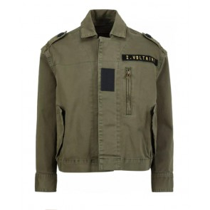 Zadig en voltaire girls army jacket in de kleur army green groen