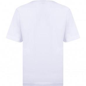 Hugo Boss kids t-shirt met logo print in de kleur wit