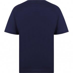 Hugo Boss kids t-shirt met logo print in de kleur donkerblauw