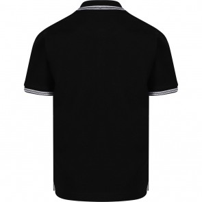Hugo Boss kids polo t-shirt met logo in de kleur zwart