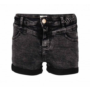 Indian blue jeans girls korte broek denim shorts in de kleur zwart