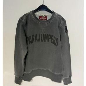 Parajumpers boy caleb sweatshirt trui met logo print in de kleur silver grijs
