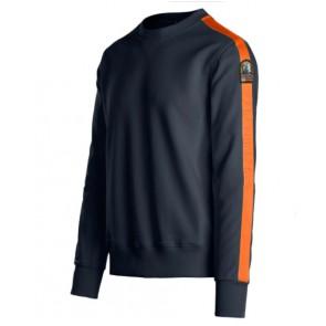 Parajumpers boy armstrong sweatshirt trui met oranje bies in de kleur donkerblauw