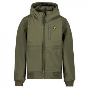 Lyle and scott boys zomerjas soft shell zomerjas in de kleur green groen