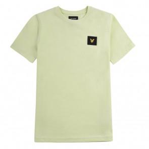 Lyle and Scott kids junior t-shirt met zwart logo in de kleur zachtgroen