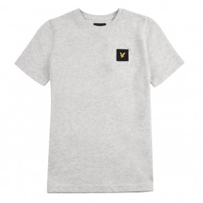 Lyle and Scott kids junior t-shirt met zwart logo in de kleur lichtgrijs