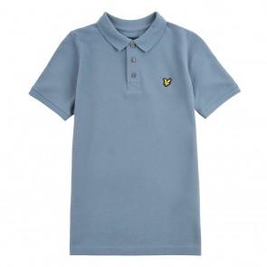 Lyle and Scott kids junior polo shirt in de kleur petrol blauw