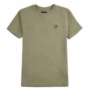 Lyle and Scott kids junior t-shirt met logo in de kleur army groen