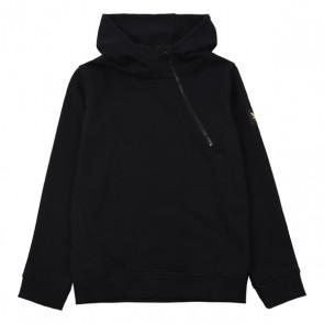 Lyle and scott hoodie sweater trui met schuine rits in de kleur zwart