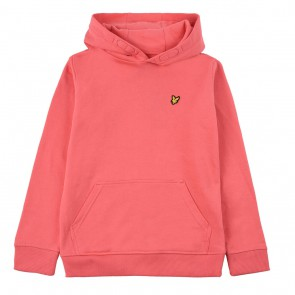 Lyle and Scott kids junior hoodie sweater trui in de kleur koraal roze