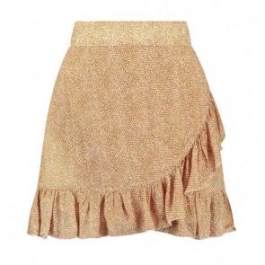 Circle of trust girls Bailey skirt rok safari dot in de kleur roestbruin