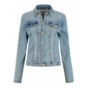 Circle of trust girls Mara jacket jeansjasje in de kleur jeansblauw