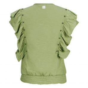 Retour jeans girls Valerie t-shirt met studs in de kleur army groen