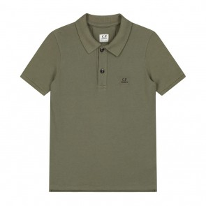 CP Company undersixteen kids polo shirt mini logo in de kleur army green