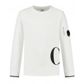 CP Company undersixteen kids sweater trui met lens in de kleur wit