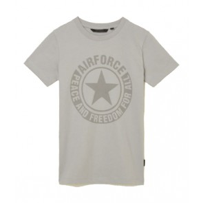 Airforce kids boys logo t-shirt in de kleur lichtgrijs