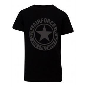 Airforce kids boys logo t-shirt in de kleur zwart