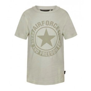 Airforce kids boys logo t-shirt in de kleur zand