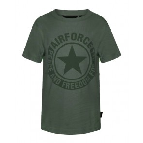 Airforce kids logo t-shit in de kleur donkergroen