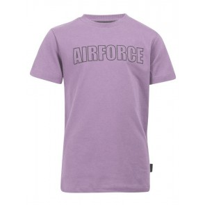 Airforce kids boys outline t-shirt in de kleur licht paars