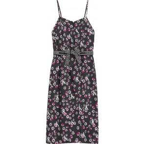 Calvin Klein kids girls mini floral strap dress in de kleur zwart