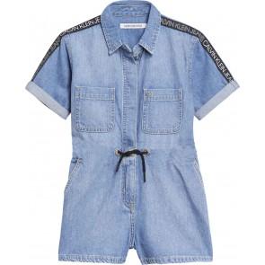 Calvin Klein kids girls playsuit tuinpak in de kleur jeansblauw