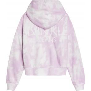 Calvin Klein kids girls cloud relaxed hoodie trui in de kleur lila