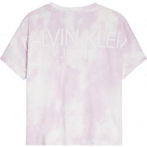 Calvin Klein kids girls cloud boxy t-shirt in de kleur lila/wit
