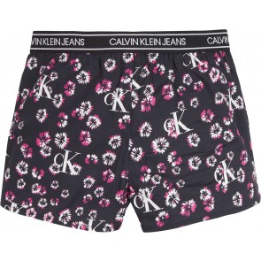 Calvin Klein kids girls mini floral shorts in de kleur zwart
