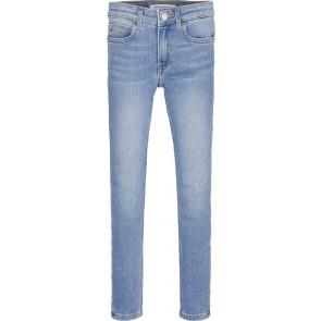 Calvin Klein kids girls super skinny jeans broek in de kleur jeansblauw