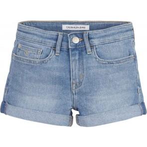 Calvin Klein kids girls korte jeans broek slim short in de kleur jeansblauw